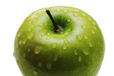Free Green Apple With Water Drops Royalty Free Stock Photography - 4540607