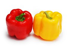 Free Two Peppers Red, Yellow Royalty Free Stock Photo - 4540685