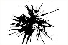 Vector Abstract Black Spray Drops Royalty Free Stock Image