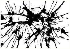 Vector Abstract Black Spray Drops Royalty Free Stock Photos
