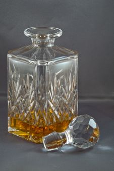 Free Whiskey Crystal Decanter Royalty Free Stock Photo - 4540965