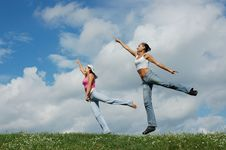 Free Jumping Girls Stock Images - 4541364