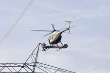 Free Helicopter High Lines Construct Royalty Free Stock Photos - 4541378