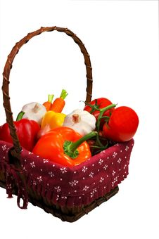 Free Vegetable Basket Royalty Free Stock Images - 4541429