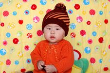 Free Chinese Lovely Baby Royalty Free Stock Photography - 4541637