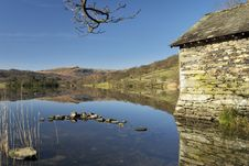 Free Boathouse On Rydal Water Royalty Free Stock Photography - 4541737