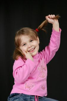 Free Child Keeps Hairs Stock Images - 4543154