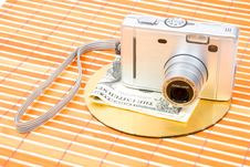 Us Money And Digital Photo Camera Stock Photography