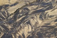 Sand Patterns In A Rivulet Royalty Free Stock Images