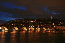 Free The Famous Charles Bridge Royalty Free Stock Photography - 4543877