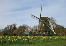 Free The Windmill In Dutch Countryside Stock Photo - 4544080