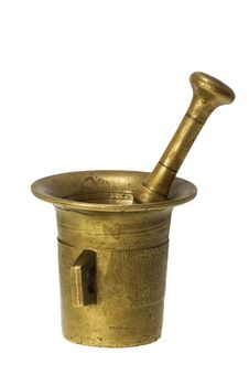 Free Brass Mortar And Pestle Royalty Free Stock Image - 4544416