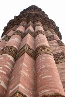 Ruins At Qutub Minar Stock Photo