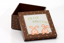 Free Easter Gift Box Royalty Free Stock Photography - 4545357