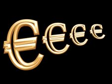 Free 3d Euro Symbol Stock Photo - 4545500