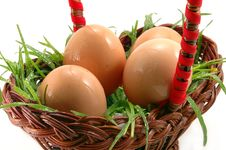 Free Close-up Of Four Easter Eggs Stock Image - 4545781