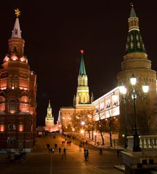 Towers Of Kremlin, Moscow Stock Photography