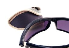 Free Blue Eyeglasses With Case Royalty Free Stock Photos - 4546038