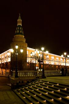 The Towers And Walls Of Kremlin Royalty Free Stock Photography
