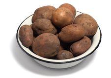 Free Bowl Of Raw Organic Potatoes Royalty Free Stock Photography - 4546167