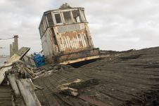 Free Derelict Boat Stock Image - 4546441