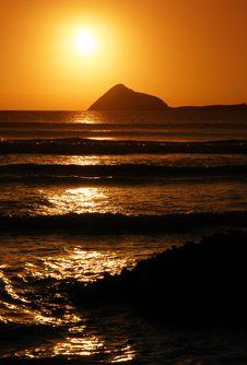 Free Sunset Surf Stock Photo - 4546700