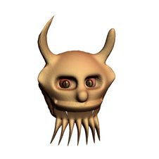 Free Head Of A Demon On A White Background. 3D. Stock Images - 4546794