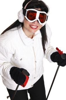 Free Female Skier Royalty Free Stock Photography - 4547177