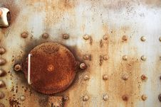 Rusted Steel Hatch Stock Images