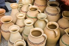 Clay Jugs Royalty Free Stock Images