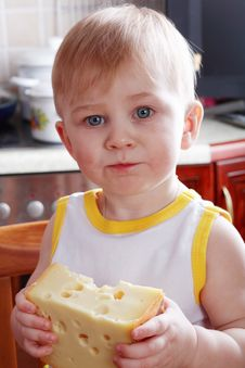 Free Cheese Boy Royalty Free Stock Image - 4547726