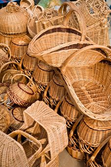 Free Wicker Baskets Royalty Free Stock Photos - 4547768