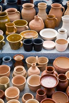 Clay Jugs Stock Image