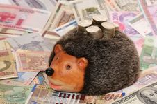 Free Hedgehog-coin Box Stock Photography - 4548372