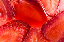 Free Strawberry Jelly Dessert Stock Photography - 4548492