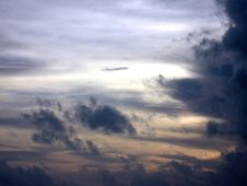 Free Black Clouds In Maldives Stock Photography - 4549422