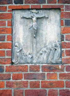 Free The Crucified Christ Bas-relief Representing. The Stock Images - 4549554