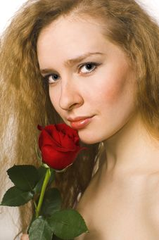 Free The Blonde And Rose Stock Photos - 4549943