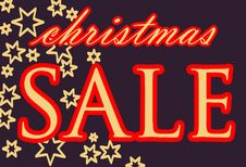 Publicity For The Christmas Sale; Vector Royalty Free Stock Images