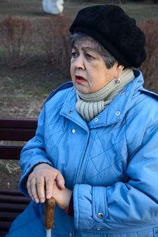 Free Elderly Woman Confide Stock Photography - 4550052