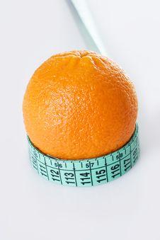Free Fresh Orange And Measuring Tape Royalty Free Stock Image - 4550196