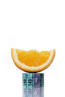 Free Fresh Orange And Measuring Tape Stock Image - 4550201