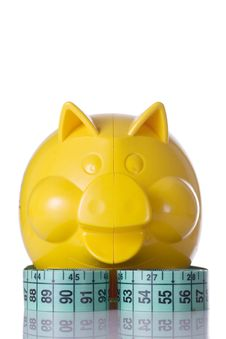 Free Yellow Piggy Bank Stock Photos - 4550213