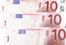 Free Ten Euro Notes Royalty Free Stock Images - 4550279