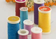 Different Colors Of Thread Royalty Free Stock Photos