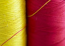 Free Red And Yellow Thread Royalty Free Stock Image - 4550416