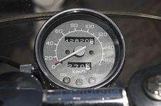 Bike Speedometer Stock Photo