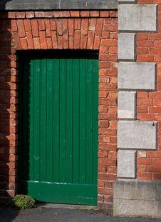 Free Green Door Royalty Free Stock Image - 4551286