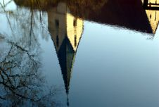 Reflection Of A Church Stock Image
