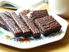Chocolate Wafers Stock Photography